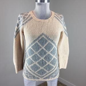 J Crew XS Cream Gray sweater Cashmere crew neck